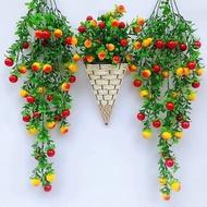 ✱Bunga tiruan dinding rotan plastik bunga hiasan hiasan hiasan hiasan ruang tamu tanaman hijau restoran gantung dinding