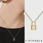 PD PAOLA 西班牙時尚潮牌 金色鎖頭項鍊 925純銀鑲18K金 BOND GOLD