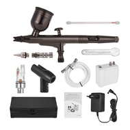 ✍LG Professional Airbrush Set Multi-Purpose Airbrushing System Kit with Portable Mini Air Compressor Gravity Feed Dual-A