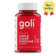 Goli Nutrition, Apple Cider Vinegar Gummies, 60 Pieces(สินค้านำเข้า)