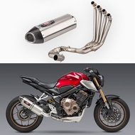 Motorcycle modified CBR650R front CB650R CB650F stainless steel full exhaust pipe 2014-2019