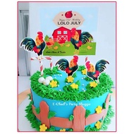 manok na pula / sabong / rooster cake topper personalized