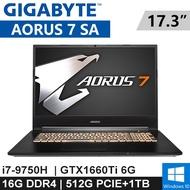 """技嘉 AORUS 7 SA-71651P 17.3""""(i7-9750H/16G DDR4/512G PCIE+1TB/GTX1660Ti 6G/WIN10/144Hz/2Y)"""