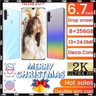 Note20+ mobile phone 4G LTE Smartphone 6.7 inch 8GB RAM 256GB ROM Android 9.1 Support Fingerprint ID Dual Card 4800mAh