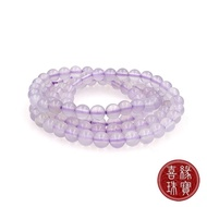 【喜緣玉品】天然冰紫玉髓串珠鍊(6mm)
