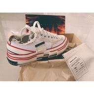❍▤►XVESSEL BY VANNESS 19FW WHITE LOW deconstructed canvas shoes used Jay Chou
