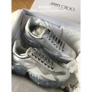 Jimmy Choo 爆款 銀色 水晶底 休閑鞋