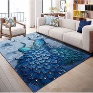 Beautiful Peacock 3D Printed Carpets for Living Room Home Area Rugs Child Bedroom Play Large Carpet Cartoon Kids Room Crawl Mats