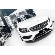 【Future_Design】賓士 BENZ W205 S205 AMG保桿專用 FD ED1 全抽真空 卡夢 前下巴