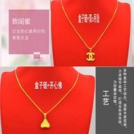 久不掉色祝越南沙金鍍金仿真假黃金女項鏈首飾18K999純金色
