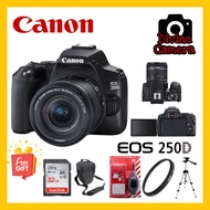 Canon EOS 250D DSLR Camera with 18-55mm Lens 32GB +Bag + Tripod + Lens Protector + Cleaning Kit
