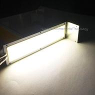 SUMBULBS 10W แสงไฟแอลอีดีแบบหรี่ได้แถบหลอด12V LED โคมไฟแผงธรรมชาติที่อบอุ่นสีขาวสีฟ้า120X36มม.ชิป LED สำหรับ DIY