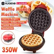 Augienb mini เครื่องทำวาฟเฟิล เครื่องทำขนมทรงกลม อบร้อนได้อย่างรวดเร็ว 350w เครื่องทำวาฟิล เตาอบวาฟเฟิ เครื่องทำวาฟเฟิลอาหารเช้า Waffle maker