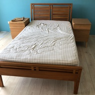 詩肯柚木床架 單人床加大 含床墊