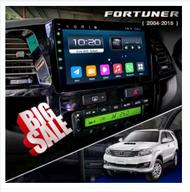 เครื่องเล่นAndroidติดรถยนต์พร้อมจอ 2 Din จอขนาด 9 นิ้ว ตรงรุ่น Toyota Fortuner 2004-2015 ระบบ Android 9 รุ่นใหม่ล่าสุด Ram 2G/Rom 32G จอกระจก 2.5D แบบ IPS พร้อมหน้ากาก จอสว่างคมชัด มี GPS รุ่นใหม่ล่าสุด จอแอนดรอยด์ จอAndroid จอติดรถ ฟร้อนแอนดรอยด์