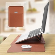 Laptop Asus Zenbook Pro Duo Ux581 14 Inch Leather Premium Case Sleeve Pouch Bag Cover With Mous
