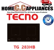 TECNO TG-283HB 74CM INDUCTION-CERAMIC HYBRID HOB 2 BURNERS | FREE DELIVERY |