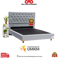 Divan And Custom Backrest Bed Frame Divan Spring / Foam Mattress