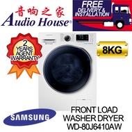 SAMSUNG WD-80J6410AW WASHER DRYER WD80 Combo with EcoBubble 8KG  [2 YRS PARTS + 11 YEARS MOTOR WTY]