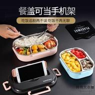 304不銹鋼分格保溫飯盒日式便當盒便攜微波爐加熱餐盒