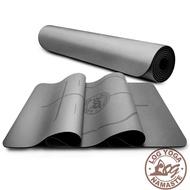 LOG YOGA 樂格 PU環保天然橡膠 專業款瑜珈墊 -灰色 (厚度5mm)