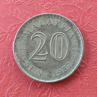 Koin Malaysia 20 Sen Gedung TP130