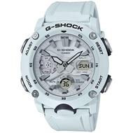 【CASIO 卡西歐】G-SHOCK 碳纖維防護雙顯手錶(GA-2000S-7A)