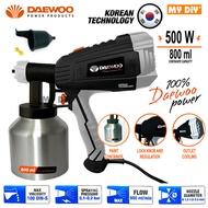 MYDIYSDNBHD - DAEWOO 500W Electric Paint Spray Gun HVLP Paint Spray Gun 800ml For Paint And Chemical Use