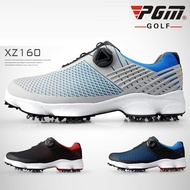 PGM Men Golf Shoes Leather Waterproof Sneakers Activities Nail Spikes Golf Shoes