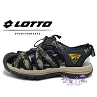 LOTTO樂得-義大利第一品牌 男款冒險者護趾運動涼鞋 [6115] 迷彩綠【巷子屋】