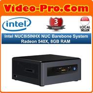 Intel NUC8i5INHX Barebone System i5-8265U Radeon 540X Discrete Graphics 8GB RAM (No SSD/HDD OS)