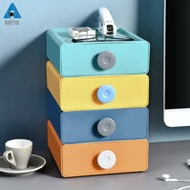【AOTTO】撞色多功能可疊加桌上收納四層抽屜櫃(抽屜櫃 收納櫃 桌上收納)