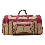 สีน้ำตาลCustomทนทานทนทานอเนกประสงค์กระเป๋าเดินทางกระเป๋าDuffleกระเป๋าของขวัญกระเป๋า