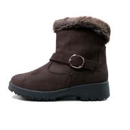 (女)【ESKT】簡易冰爪低筒雪靴-咖啡 SN239-CF