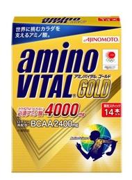 【橘町五丁目】[公司貨] 全新到貨!  限量促銷! BCAA 日本大廠AJINOMOTO生產  ajinomoto amino VITAL GOLD黃金級4000mg 胺基酸粉末 (4.7g*14包)-免運! 保存期限到 2021.12.09
