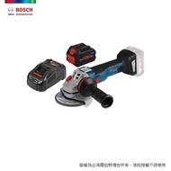 BOSCH 18V 超核芯鋰電免碳刷砂輪機 GWS 18V-100 C 8.0Ah 套裝