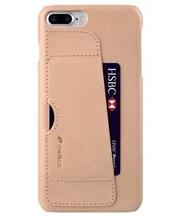 Melkco. - Apple iPhone 8 Plus / 7 Plus European 系列真皮插卡手機套 (米色)