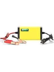 電瓶車充電器 智能12V踏板摩托車電瓶充電器12伏鉛酸蓄電池全自動通用型充電機