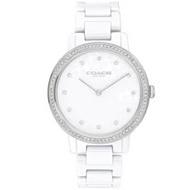 COACH 雋永時尚晶鑽陶瓷腕錶-35mm/白(14503499)