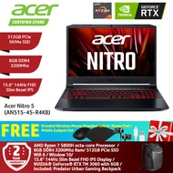 Acer Nitro 5 AN515-45-R4K8 Gaming Laptop NH.QBCSM.003 / Ryzen7-5800H/ 8GB/ 512GB/ NV RTX3060-6GB/ 15.6-Inch 144Hz FHD/ Win10