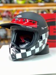 任我行騎士部品 BELL MOTO3 FASTHOUSE CHECKERS 消光黑白紅 滑胎車帽 全罩 安全帽 聯名限量