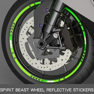Spirit Beast Motorcycle tyre paste reflective stickers motorbike reflective motocross wheels 10 inch 18 inch wheels STICKERS FREE SHIPPING