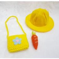 ⭐配件⭐書包&日式學生帽 兔兔牽繩服飾配件