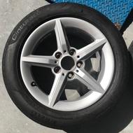 BMW 1系列 F20原廠16吋鋁圈+原廠配胎倍耐力P7失壓續跑胎205/55R16(整組4000)