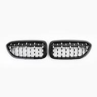 BMW專用鍍鉻鑽石水箱護罩黑框 適用 G30 G38 5 Series 2017-2019 -極限超快感