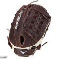 「野球魂」--美國「MIZUNO」【FRANCHISE】等級壘球手套(投手&內野手,312637,咖啡色)