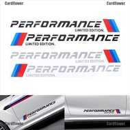 Cardflower  2PCS Car-Styling Stickers M Performance Limited Edition Side Door Reflective