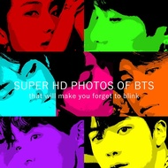 Super HD photo of BTS: Large photocard of your bias printed on real photo paper, these are hi-res photos that will make you forget to blink.