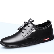 LYSBAG Mens shoes รองเท้าคัชชูผู้ชาย พื้นเย็บ สีดำ Formal Shoes