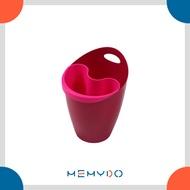 小哈哈桶/收納桶/開放式回收桶/垃圾桶/分類筒/置物筒/儲物筒/手提籃/花盆/可吊掛/可壁掛/MEMYDO 米麥豆/SMILE BIN (MINI)/807